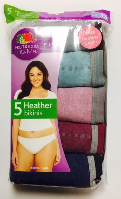 #062 FOL Fit For Me Plus Size BIKINIs - $5.25 per pack of 5(16 packs)