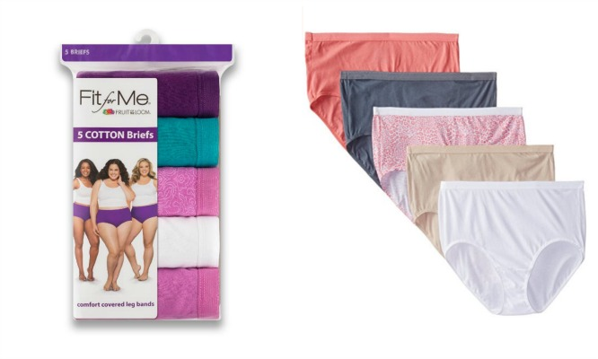 #065 FOL Fit For Me Plus Size BRIEFS - $5.25 per pack of 5(16 packs)