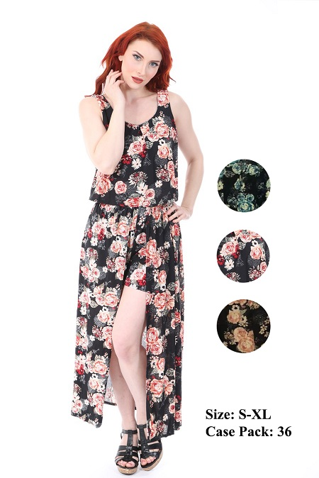 #1002-DS New! Walk Through Maxi DRESS - $6.00 each (36 pieces)