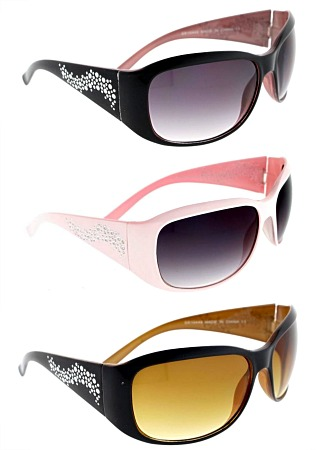 #3-10449 Women's SUNGLASSES with Bling Print - $2.25 each(12 pieces)