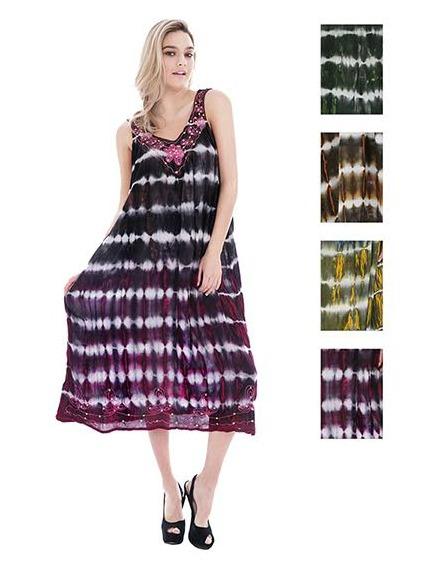 #575-1155 NEW! Rayon Acid Wash Dye Sundress - $7.00 each (12 pieces)