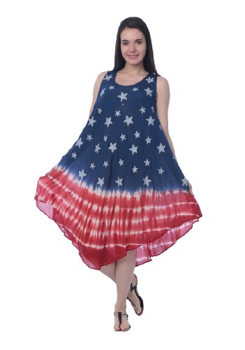 #575-1225 REDUCED! American Flag Rayon DRESS - $5.50 each (12 pieces)