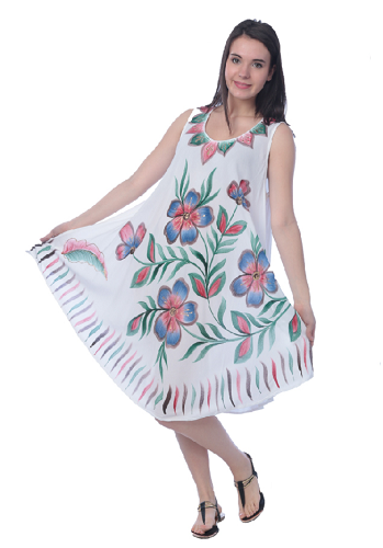 #575-1249 NEW! White Rayon Sundress - $6.75 each (12 pieces)