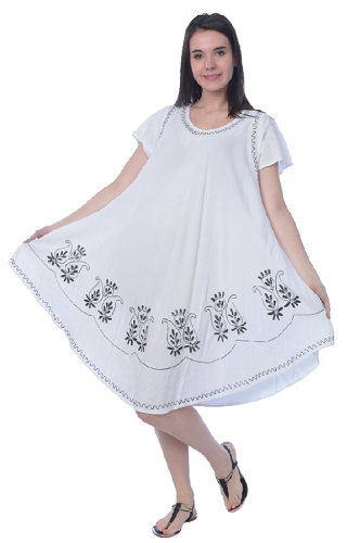 #575-1251 NEW! White Rayon Sundress - $6.75 each (12 pieces)