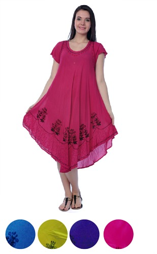 #575-1261 NEW! Rayon Dress S-XL - $6.00 each(12 pieces)