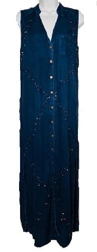 #575-1535 NEW! Long Shirt Dress - Sizes S-XL $9.00 each (12 pieces)