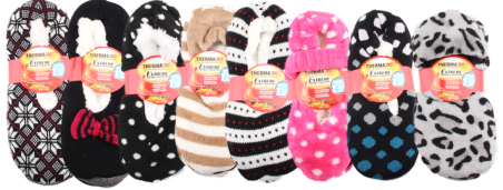 #6-16000 Sherpa Lined Indoor SLIPPER - $1.90 each(24 pairs)