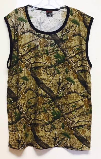 #220-C Camo Ringer Muscle Tee - $2.40 each(24 pieces)