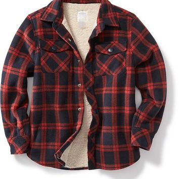 #240-SLT Men's Yarn Dyed Sherpa Lined Flannel SHIRTs - $6.50 each (24 pieces)