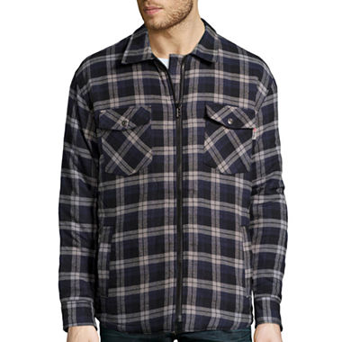 #240-QLTZ Yarn Dyed Quilted Flannel SHIRTs(Zipper) - $5.50 ea (24 pieces)