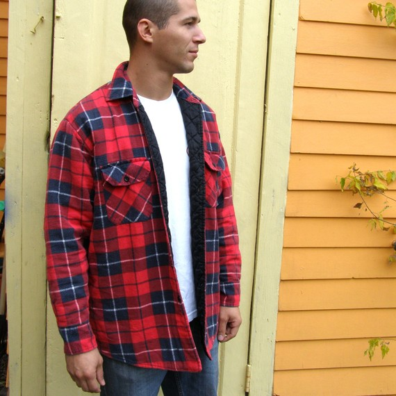 #240-QLT Men's Yarn Dyed Quilted Flannel SHIRTs - $4.90 each (24 pieces