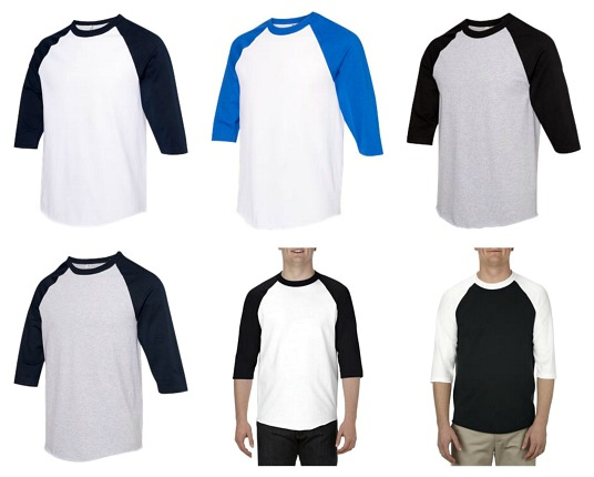 #287-AS 'ALSTYLE' Classic Raglan BASEBALL Sleeve T-Shirt - $1.50/ea(36 pcs)