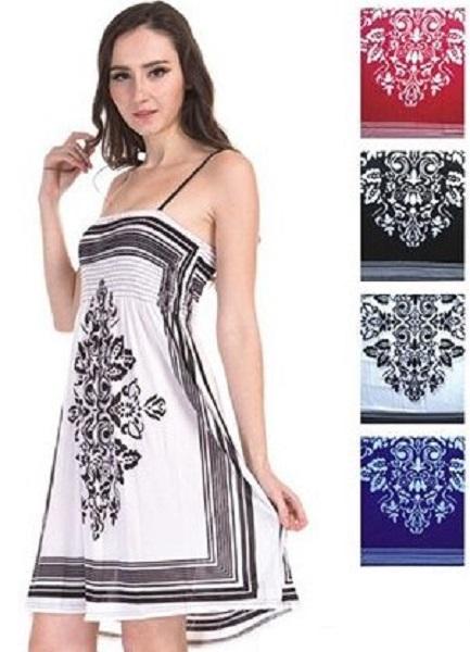 #575-3052 Spaghetti Strap Short DRESS M-L-XL-XXL - $4.25 each (12 pcs)