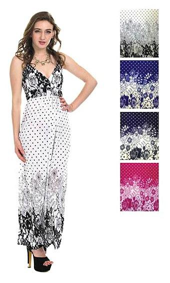 #575-3304 NEW! Long Dress(S-M-L-XL) - $5.50 - each(12 pieces)