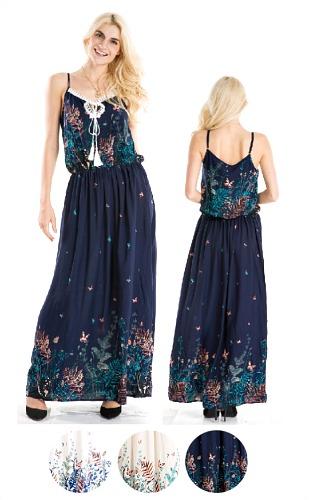 #575-3813 SALE! Rayon Maxi DRESS - $6 each (12 pieces)