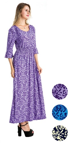 #575-3862 NEW! Long Dress/Long Sleeve - Sizes S-M-L-XL - $7.00 each (12 pieces)