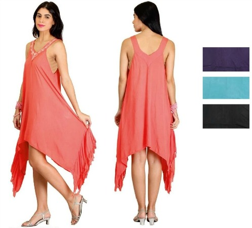 #575-5001 NEW! Rayon Sundress With Embroidery - $6.50 each(12 pieces)
