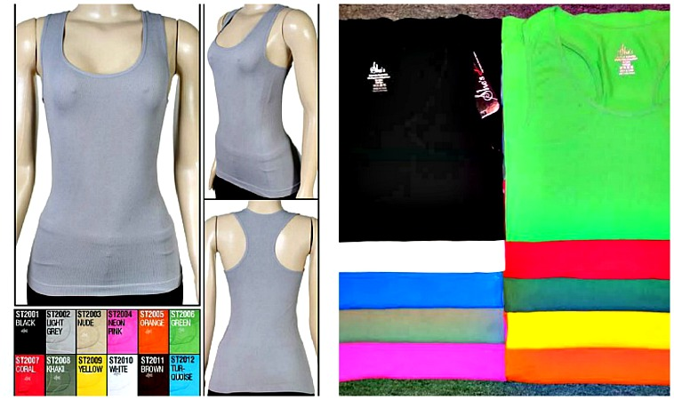 #538 CloseOut!! Seamless TANK TOPs $1.75 each(6 pieces)