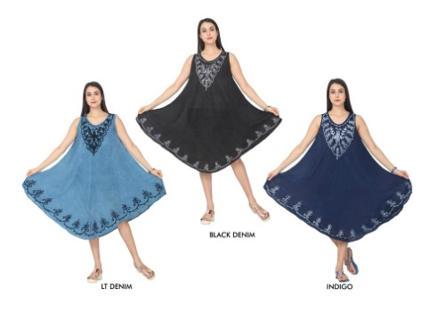 #5521-DS New! Rayon DRESS W/ Embroidery - $6.50 each (24 pieces)