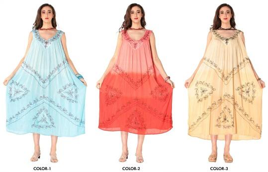 #575-5613 Rayon Tie-Dye DRESS - O/S - $6.75 each (12 pieces)