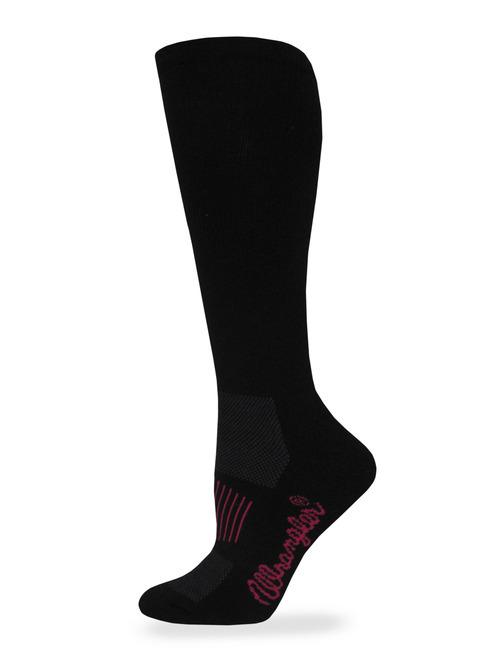 #6-9352 Wrangler WESTERN Boot Socks(Black) - $2.25 per pack of 2(18 packs)