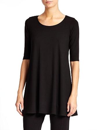 #577-6001X Plus Size Half Sleeve Loose Fit Flare Hem T SHIRT Tunic Top - $3.90ea