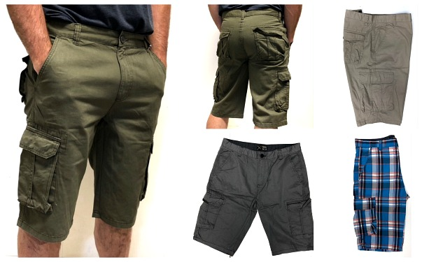 #644-NS Closeout! Men's CARGO SHORTS(28-30-32) - $3.90 each(24 pairs)