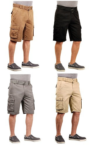 #650 New! '1688 Revolution' Belted CARGO SHORTS - $6.50 each(24 pieces)