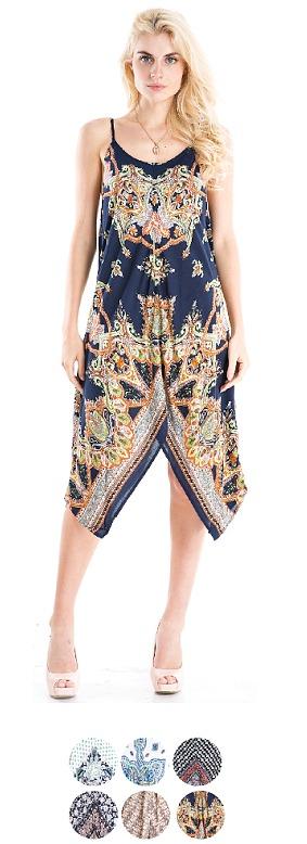 #575-6655 Printed Rayon DRESS S-XL - $7.00 each (12 pcs)