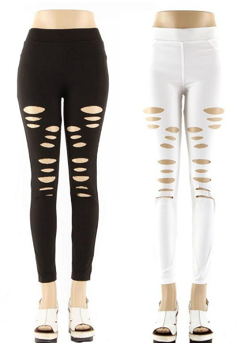 #1-4338 NEW! Fashion Leggings Distressed - $6.00 each(12 pieces)