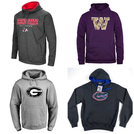 #714-CP College Print HOODIES - $3.25 each(24 pieces)