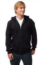 MENS 10 OUNCE ZIP HOODED SWEATSHIRT #725