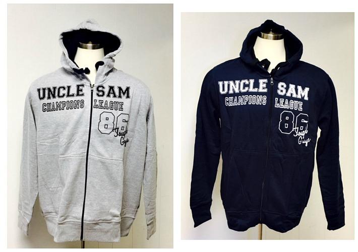 #729 'Uncle Sam' Full Zip HOODY - $3.25 each(30 pieces)