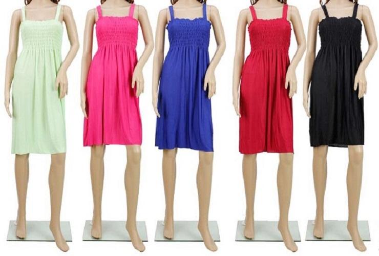 #575-801-SOLID NEW! Sundress - Sizes M-L-XL-2X - $2.50 each (12 pieces)