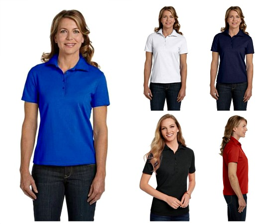 #823-CS 'Hanes' Women's Comfort Soft Cotton Pique Polo - $1.00 each(36 pieces)