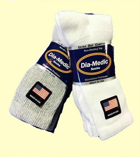 ''#9-914 Diabetic Socks - Size 9-11, 10-13 & 13-15 - MADE IN USA!''