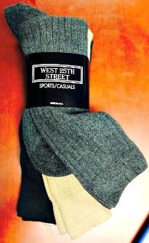 #9-927 Cotton DRESS/Casual Socks(Colors or Black) - $1.25 per pack of 3 (20 pks)