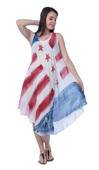 #575-1226 American Flag Rayon DRESS - $6.50 (12 pieces)
