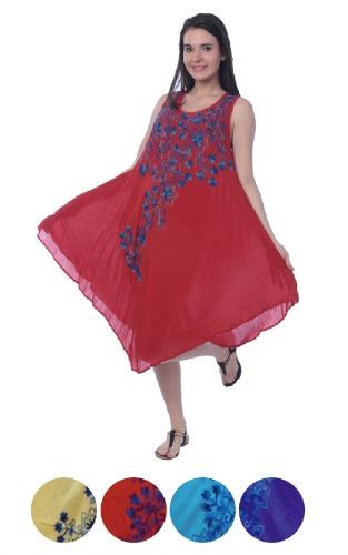#575-1254XX NEW! Rayon Plus Size Dress - $7.00 each(12 pieces)