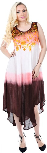 #575-1414 NEW! Rayon Maxi Tie Dye Sundress - Size S-XL $7.75 each (12 Pieces)