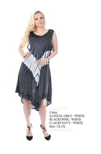 575-1509XX New! Rayon Plus Size Acid Wash Dress - $7.50 each ...