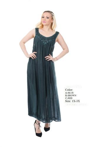 575-1511XX New! Rayon Plus Size Acid Wash Dress - $7.50 each ...