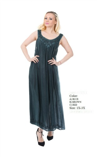 575-1511XX New! Rayon Plus Size Acid Wash Dress - $7.50 each(12 pieces)