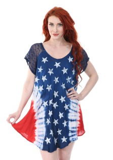 #575-1607 Women's USA Flag Schiffly DRESS - $6.25 each (12 pieces)