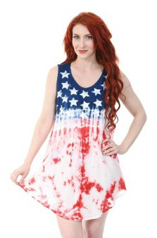 #575-1608 Women's USA Flag Staple DRESS - $6.00 each (12 pieces