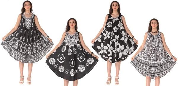 #575-5559XX Plus Size Rayon DRESS -1X-2X-3X - $6.75 each (12 pieces)