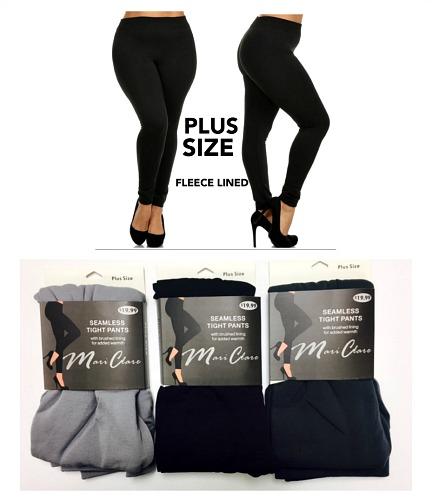 #1-741FLN-P Plus 'Mari Clare' Fleece Lined LEGGINGS - $2.90 each(24 pieces