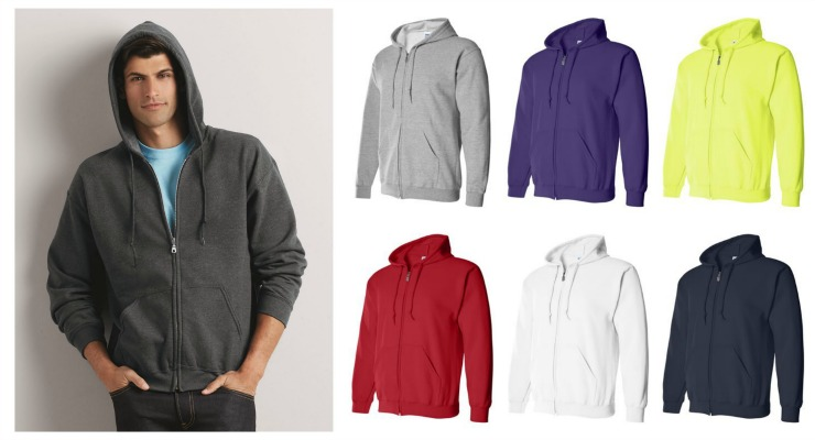 #727 Closeout! 'Gildan' Zipper Hooded SWEATSHIRT - $4.90 each(24 pieces)