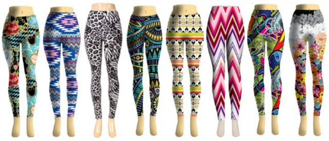 #738-ASST Womens Assorted Printed Leggings - $3.00 each(12 piece case)